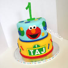 Elmo 1st Birthday Cake Elmosesame Street Themed Cake For A One