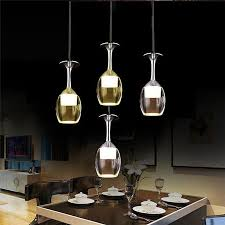 5w led pendant lamp ac85 265v wine cup shape glass stainless steel pendant lights for kitchen bar bedroom lighting multi pendant lights brass pendant