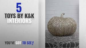 top 10 k k interiors toys 2018 8 inch chagne glitter pumpkin standard