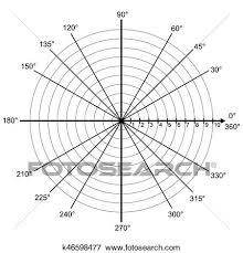 Blank Polar Graph Paper Protractor Pie Chart Vector Clip