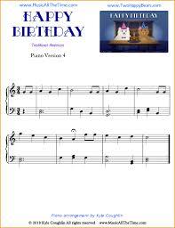 happy birthday piano sheet