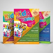 Kids Summer Camp Flyer Design Template 001513 Template Catalog