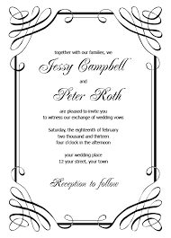 wedding invite template download blank wedding invitation templates download