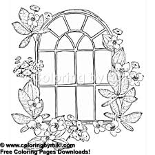 Secret Garden Window Coloring Page 1170 Coloring By Miki