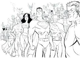 Justice League Coloring Pictures Zupa Miljevcicom