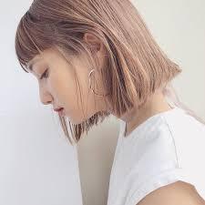 韓国ヘアのタンバルモリとは切りっぱなしボブ15選切り方や前髪なしも