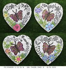 heart shaped ceramic garden decorations foot stepping stone pathway path paving images