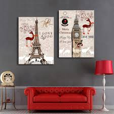Modern Wall Paintings Living Room Online Get Cheap Building Oil Painting Aliexpresscom Alibaba Group