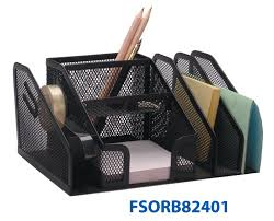 fis metal mesh desk organizer