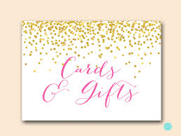 sign cards gifts hot pink confetti bridal shower sign