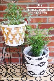 DIY Tribal Painted Baskets For Home Decor  DiycandycomBaskets For Home Decor