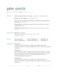 Open Office Resume Templates