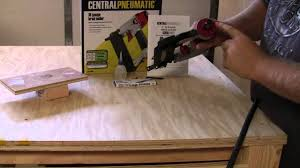 harbor freight tools brad nailer quick out of the box review on a nailer you