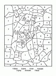 Small Picture Adult Printable Color By Number Coloring Pages Best Winter