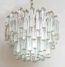 reduced from 3 750 stellar camer glass chandelier lushly adorned with fat venini triedri crystals