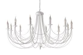 Agaton Incredible Chandelier 12 Flames White