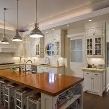 kitchen counter lighting ideas. Traditional Kitchen Ideas - Idea In New York With Wood Countertops, Counter Lighting