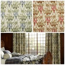 Designer Curtain Fabric Warehouse Smd Liberty Navy Cherrytapestry Designer Curtain Fabric