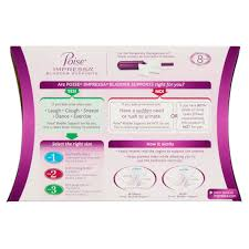 Poise Impressa Incontinence Bladder Supports Sizing Kit 6 count.