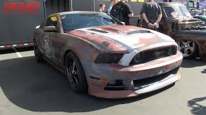 Crazy Paint Jobs Crazy Rusted Wrap From 13 Three Motorsports On A Mustang At Sema