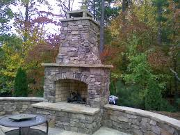 step 3 apply stone veneer outdoor fireplace