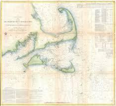 Cape Cod Chart File 1857 U S Coast Survey Map Of Cape Cod Nantucket And