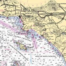 California Nautical Charts California Los Angeles San Pedro Channel Nautical Chart Decor