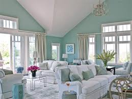 Living Room, Best Living Room Colors With White Sofa And Blue Cushion And  Carpet And