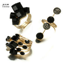 fashion punk rings <b>set</b>