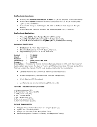 Banking Projects For Testing Resume Qtp Sample Resume Testing