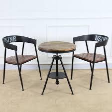2018 bao creative hair retro wood coffee table tea table iron bar tea whole casual cafe tables and chairs from zhoudan5242 183 65 dhgate com