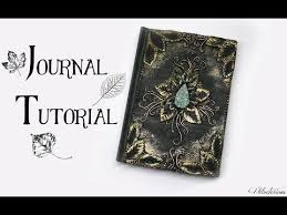 polymer clay journal cover tutorial leafy nature fantasy diy book cover you