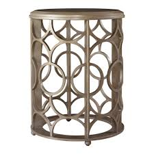 small modern round accent table