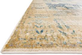 blue gold area rug sold out
