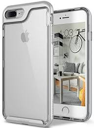apple iphone 7 plus silver. iphone 8 plus case / 7 caseology [skyfall series] transparent clear apple iphone silver