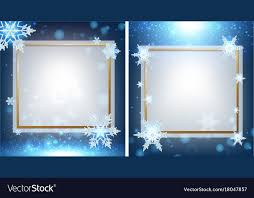 Two Border Template With Snowflakes In Background