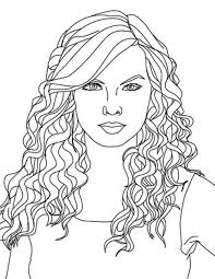 hair coloring page coloring pages of hair taylor swift curly hair coloring page color coloring pages