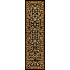 safavieh lyndhurst black red 2 ft x 20 ft runner rug