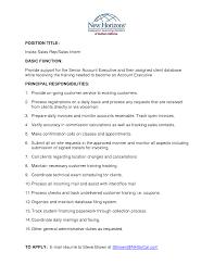 Sample Resume For Senior Customer Service Executive Resume