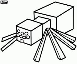 Minecraft Spider Man Free Coloring Pages