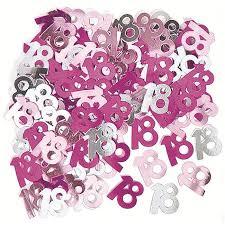 Confettis de table roses 18 ans (14g) - Achat / Vente décoration de ...
