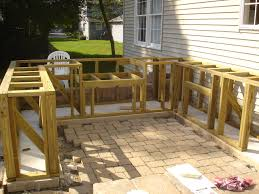 diy bar top design ideas match existing patio preparation