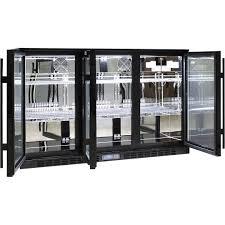 rhino commercial 3 door glass bar fridge 3