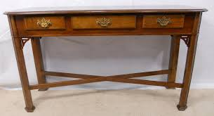 walnut console table in antique