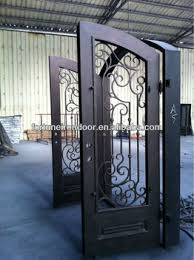glass front doors with iron. Perfect Iron Safety Wrought Iron Entry Doors Glass Front Door Business Made In China  Factory On Glass Front Doors With Iron O