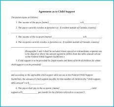 Custody Agreement Template Child Custody Agreement Template Amazing Sample Support