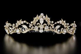 Tiara Design Ideas Gold Wedding Tiara Vine Design With Rhinestones In 2019