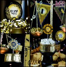 decoration: Brilliant Goblet In Black Bronze Applied For Great Gatsby Party  Decorations Completed With Greeting