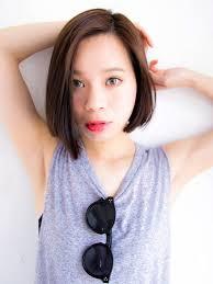 内巻きミディアム縮毛矯正ストレート特集髪型ヘアスタイル