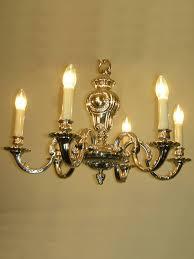 chandelier l xiv nickel eme style l xiv 6 lights